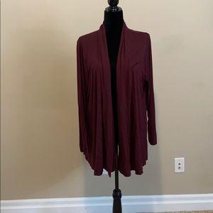 NWOT - Beautiful burgundy Cardigan